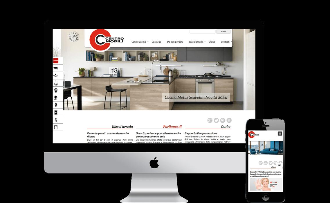 Realizzazione del sito web di Centro Mobili | Bell&Tany