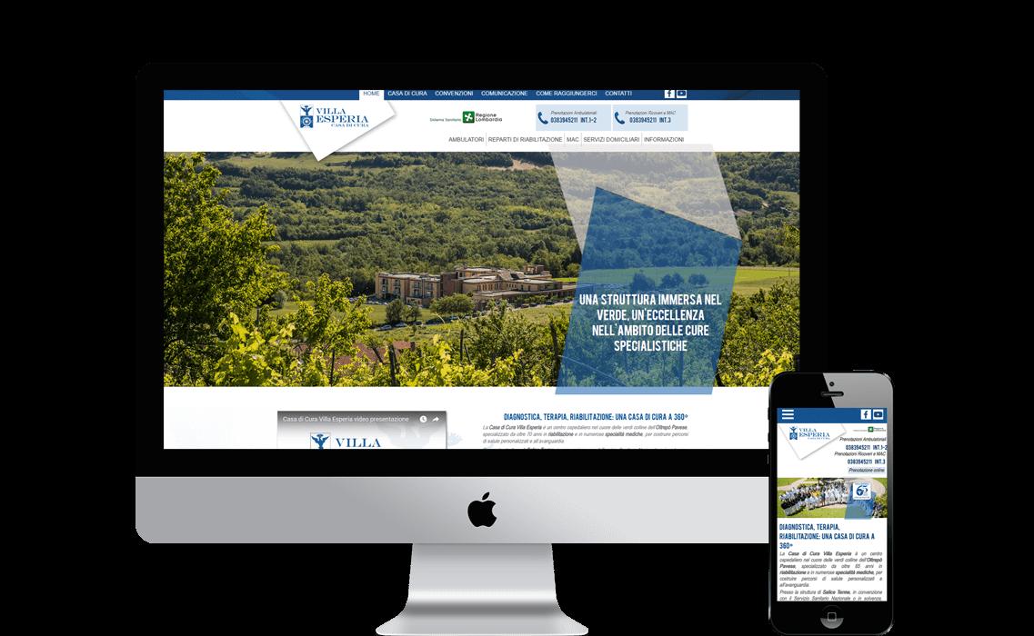 Realizzazione sito web per Villa Esperia