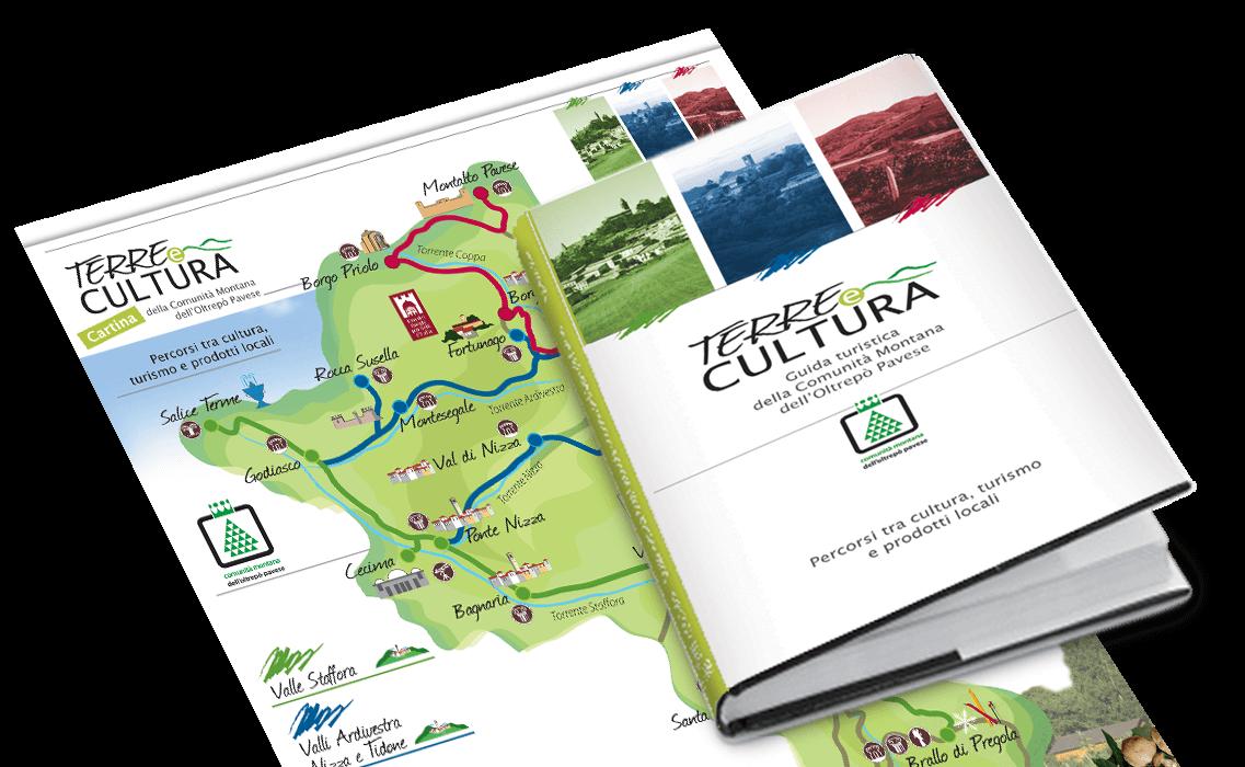 """Guida turistica """"Terre e cultura"""" per Comunità Montana dell'Oltrepò Pavese"""
