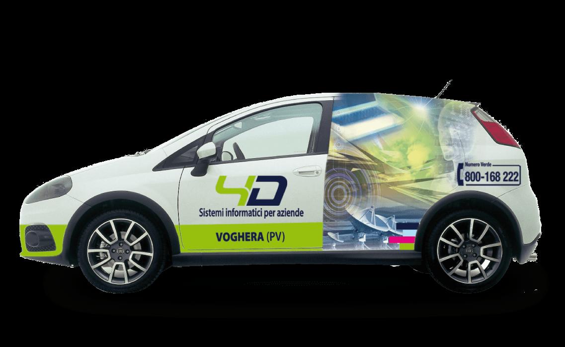 Car wrapping per le autovetture dell'azienda 4D