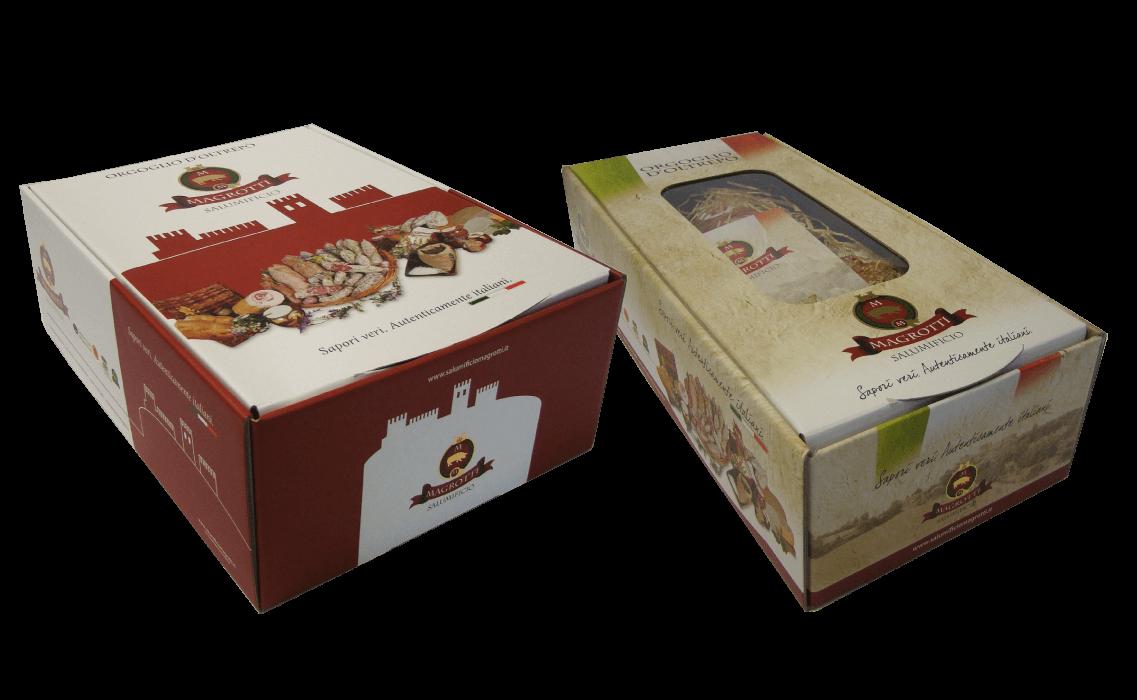 Confezioni regalo per Salumificio Magrotti
