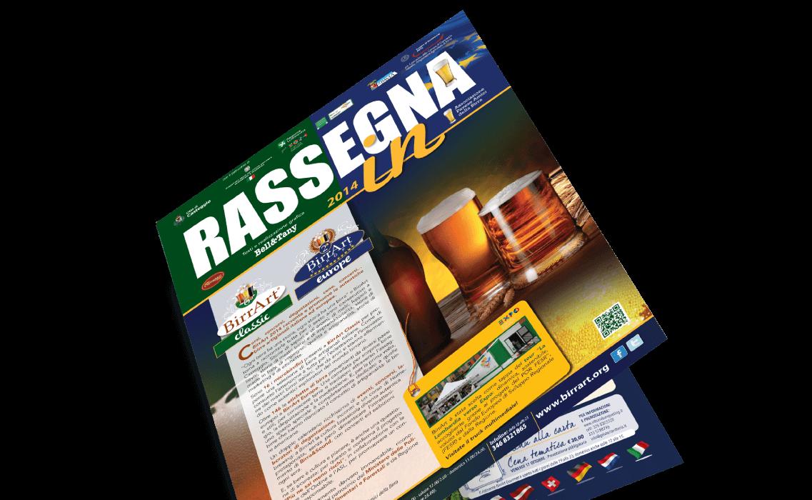 Realizzazione magazine Rassegna In di BirrArt
