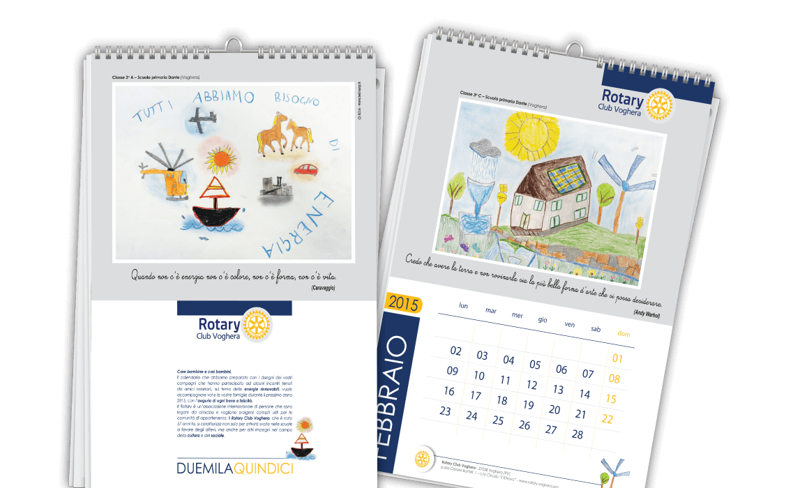 Calendario da muro per Rotary Club International